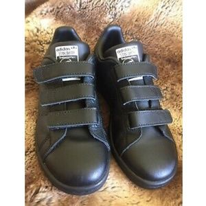 Adidas Stan Smith Velcro Black Shoes